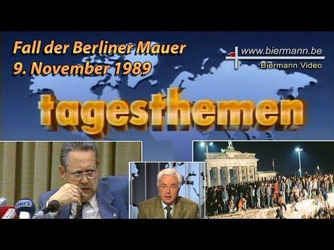 9. November Tagesthemen - Fall der Berliner Mauer
