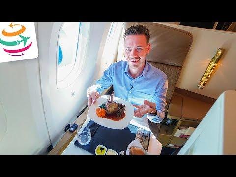 Etihad spart? Wir fliegen die Etihad Business Class 787-9   GlobalTraveler.TV