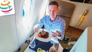 Etihad spart? Wir fliegen die Etihad Business Class 787-9 | GlobalTraveler.TV