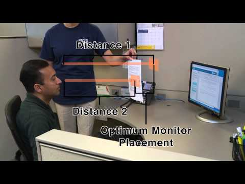 Office Ergonomics - Monitor Placement