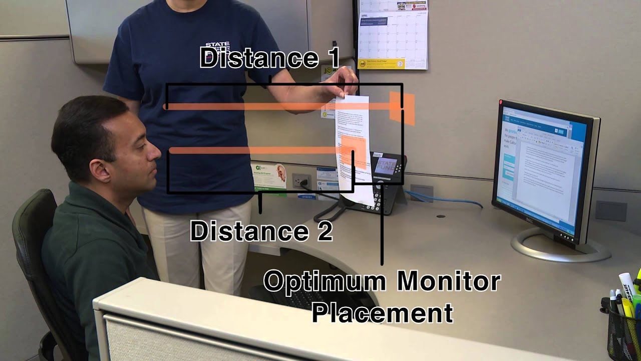 Office Ergonomics Monitor Placement Youtube