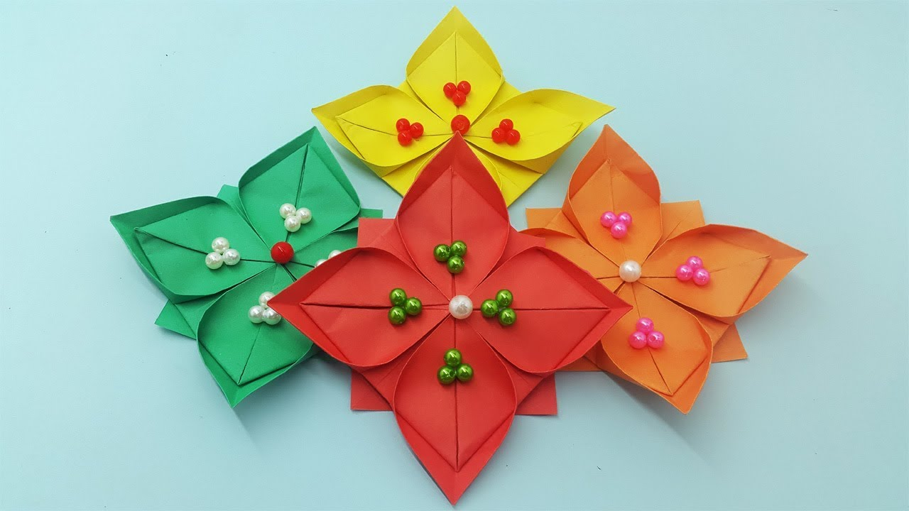 Diy Paper Flowers Tutorial Wall Decoration Hanging Easy Crafts Handmade