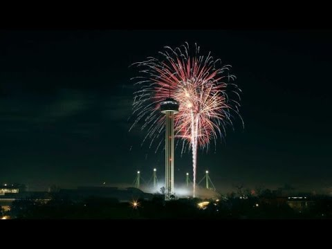 New Year 2016 San Antonio   Fireworks as seen from the sky   YouTube New Year 2016 San Antonio   Fireworks as seen from the sky