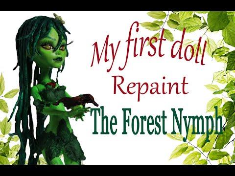Custom Forest Nymph Ooak Doll Repaint