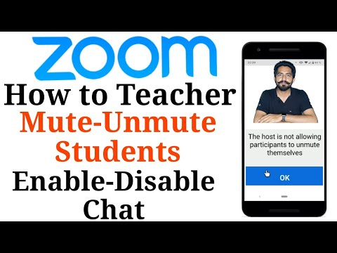 How To Teacher Mute Unmute Students Enable Disable Chat Options On Zoom Meeting App