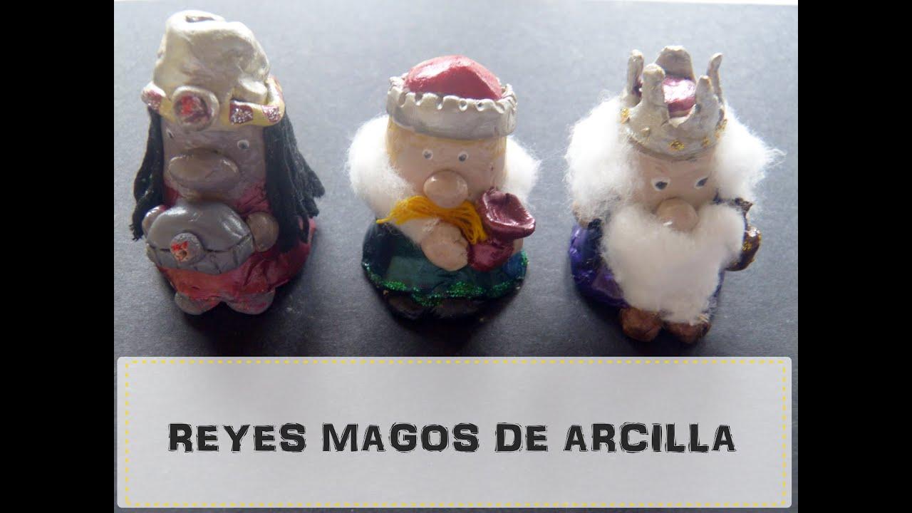 Manualidades Navidenas Con Arcilla.Figuras De Los Reyes Magos Con Arcilla O Pasta De Sal Manualidad Facil Navidad