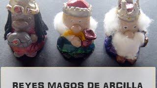 Figuras de los Reyes Magos con arcilla o pasta de sal [Manualidad  fácil para niños] Navidad