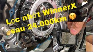 Có nên vệ sinh lọc nhớt winnerX ?, Cận cảnh lọc nhớt WinnerX sau 24k km