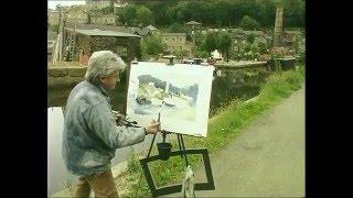 Ashley Jackson Painting in the Open Air Hebden Bridge Part 1