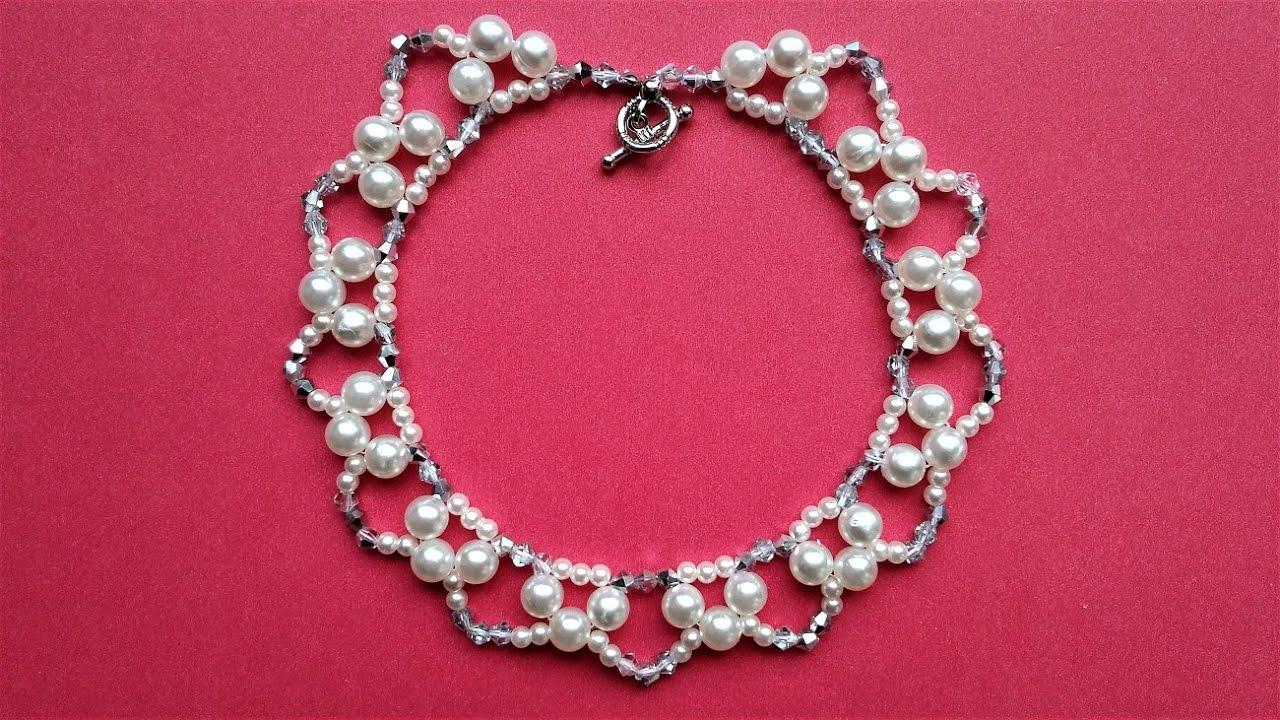 Easy Handmade Elegant Beaded Necklace Designs - YouTube