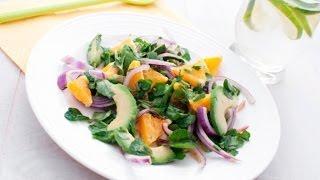 Постный салат из апельсинов и зелени