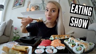 EATING SHOW: Sushi!!!!!