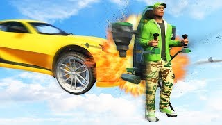SUPERCARS vs. FLYING JETPACKS! (GTA 5 Funny Moments)