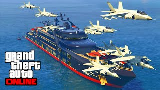 MISSILES YACHT vs HYDRA GTA 5 ONLINE