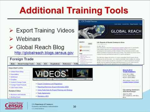 Automated Export System  The ABCs of AES Module 1