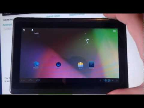 AllWinner A13 7-inch Tablet Running Android 4.1.1 Jelly Bean Custom ROM