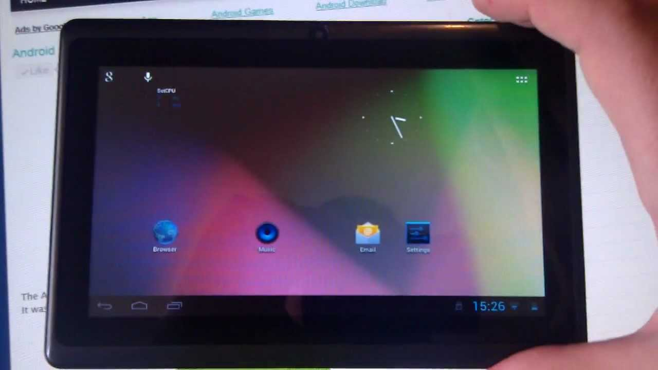 AllWinner A13 7-inch Tablet Running Android 4 1 1 Jelly Bean Custom ROM