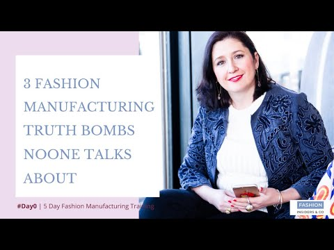 3 Secret foundations to fashion manufacturing