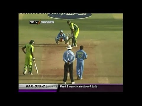 Pakistan First Ever 300+ Chase vs India 4th ODI 2005