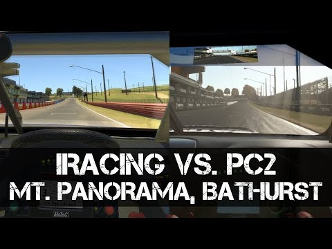 IRacing Vs. Project Cars 2 - Learning To Drive A V8 Supercar Around Mount Panorama, Bathurst