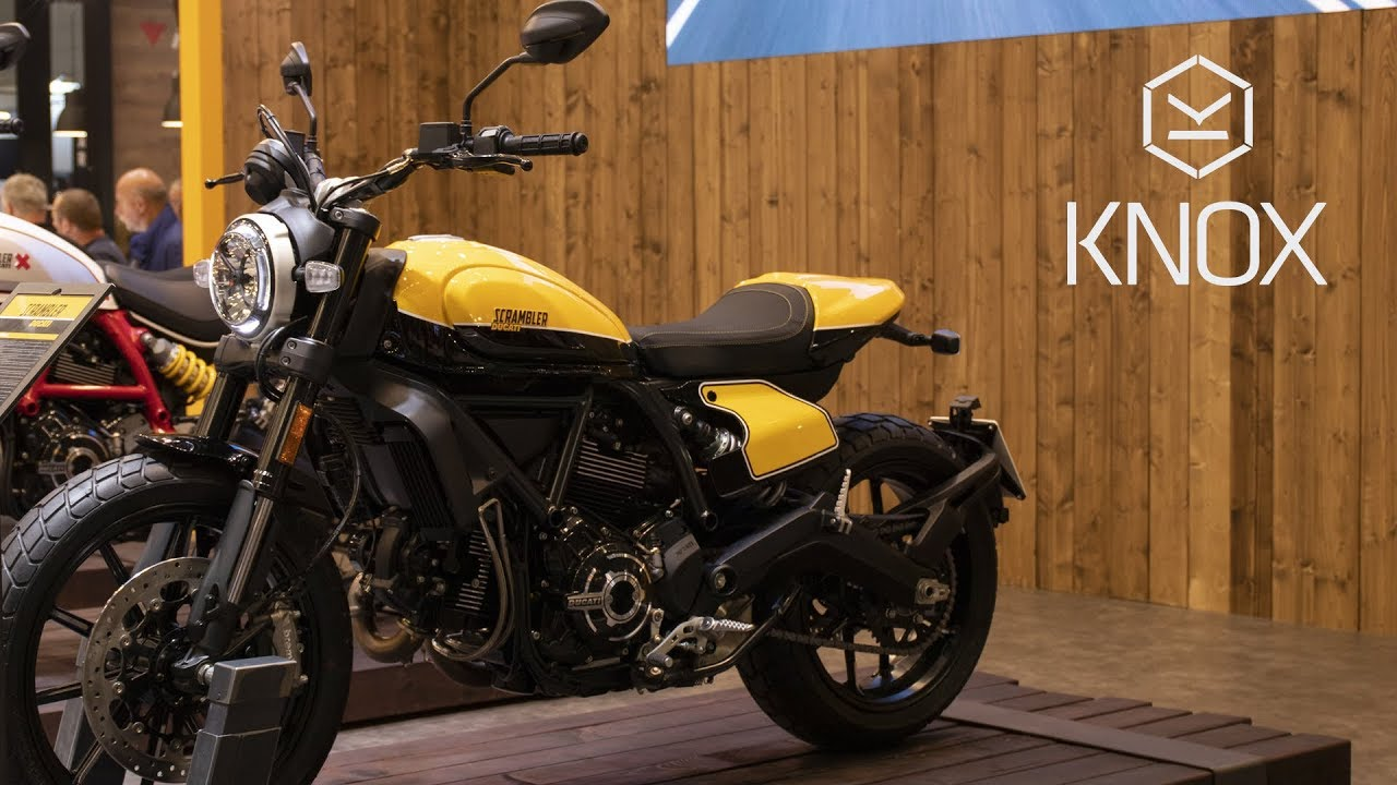 Ducati Scrambler 2019 Cafe Racer Full Throttle Icon Knox Youtube