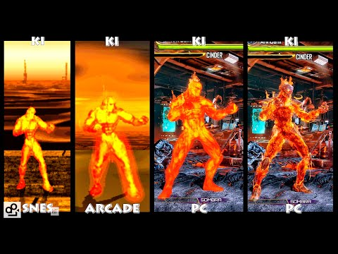 Killer Instinct CINDER Graphic Evolution 1994-2016 | SNES ARCADE PC | PC ULTRA