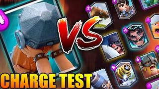 BATTLE RAM vs ALL CARDS | BATTLE RAM CHARGE TEST | CLASH ROYALE