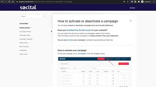 How to activate or deactivate Shopify onsite campaigns with Socital