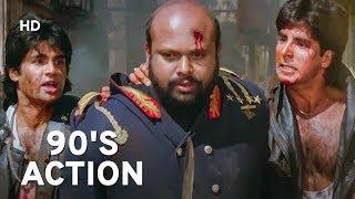 Akshay Kumar & Suneil Shetty 90's Action | Waqt Hamara Hai | Popular Hindi Action Movie