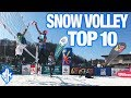 TOP 10 Crazy Plays Snow Volleyball Highlights