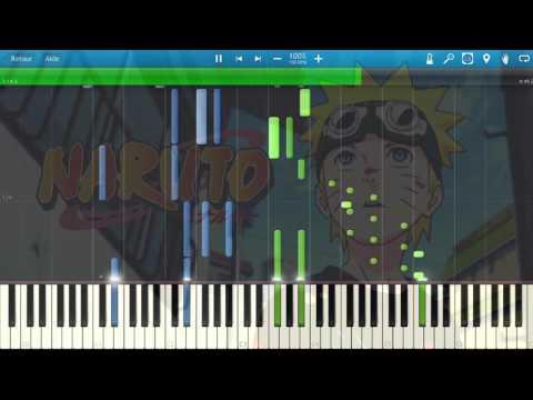 Yura yura - Naruto Opening 9 [Piano cover] // Synthesia