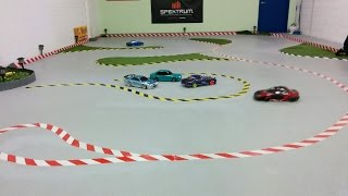 Drifting @ Galaxy Hobby and testing some quadcopter aerial footage