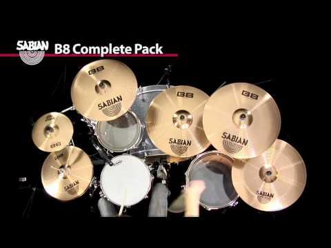 Sabian B8 Complete Pack Cymbal Demo