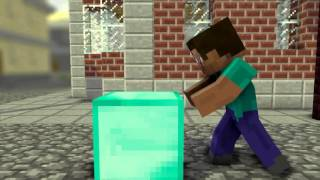 Minecraft animtion Wooden pickaxe