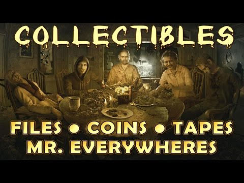 Resident Evil 7 All Collectible Locations (Files, Antique Coins, Mr. Everywhere, Tapes) EASY/NORMAL