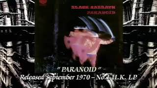 Black Sabbath - PARANOID - OZZY AT HIS BEST