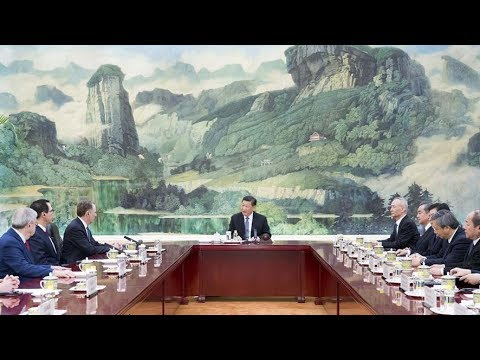 Chinese President Meets U.S. Trade Representative, Treasury Secretary