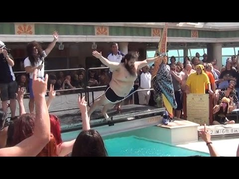 Belly Flop Contest on Heavy Metal Cruise Ship to Jamaica - 70000 Tons Of Metal | Docm77