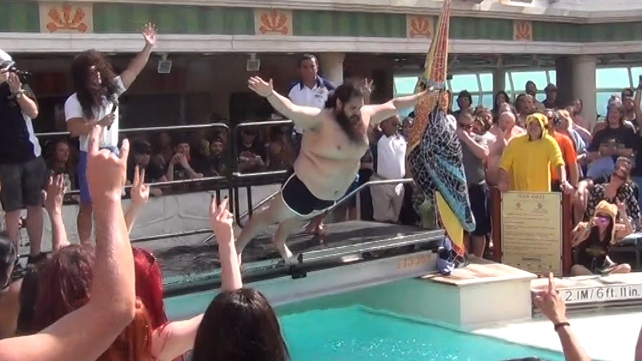 Belly Flop Contest On Heavy Metal Cruise Ship To Jamaica - How heavy is a cruise ship