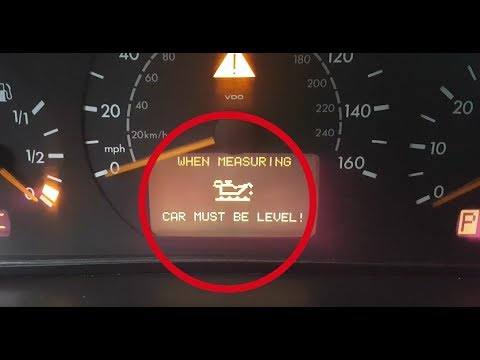 Hidden function Mercedes W203  How to check the oil level in the engine /  Oil level in the display