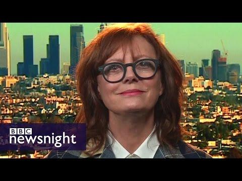 'I don't vote with my vagina': Susan Sarandon on not backing Hillary Clinton - BBC Newsnight