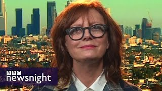 i don t vote with my vagina susan sarandon on not backing hillary clinton bbc newsnight