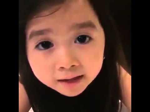 طفلة كورية تتكلم العربية   انا احبكم