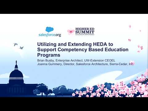 Utilizing and Extending HEDA to Support Competency Based Education Programs
