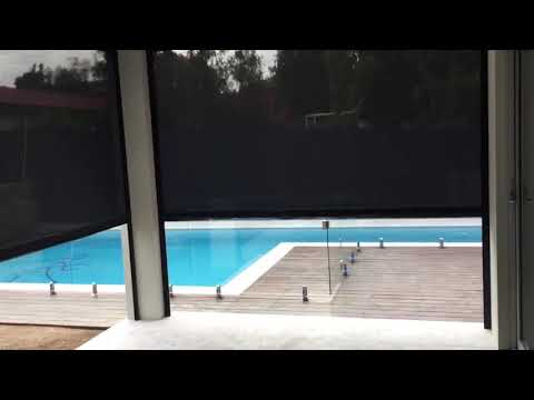 Install of the Week:  Motorised Outdoor Blinds Installed in Concord West