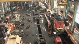 2010.4.1  臺鐵 台北機廠 柴電工場 鳥瞰拍攝景 HD