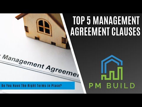 Top 5 Management Agreement Clauses