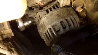 Форд Фокус 1 , Ремонт Генератора и замена приводного ремня.