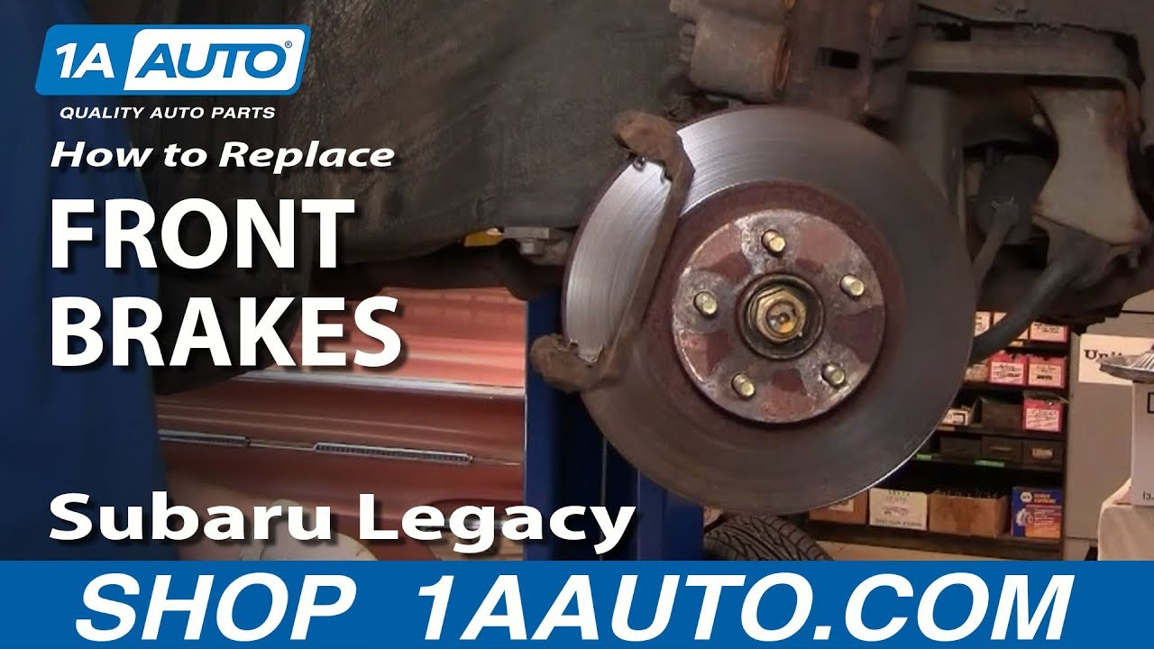 hight resolution of how to install replace front brakes subaru legacy outback 99 1aauto com youtube