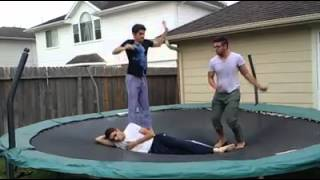 DhoomBros Trampoline fun+Water fight..